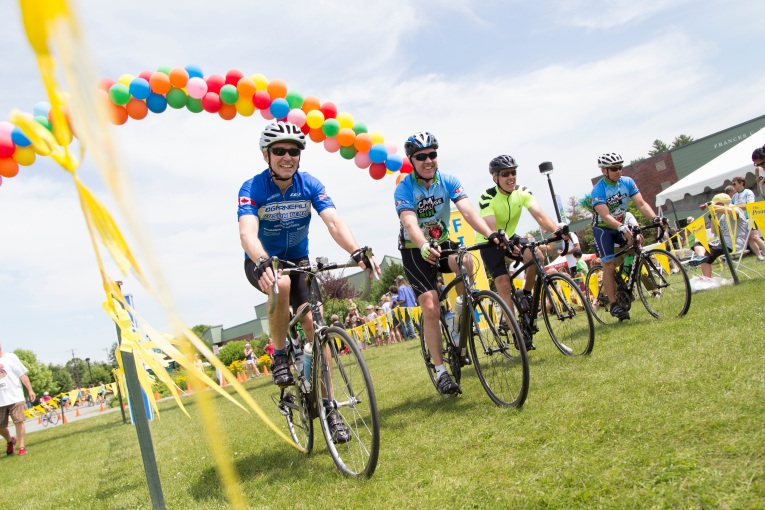 Prouty riders cross finish line