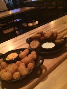 Fried pickles and tater tots